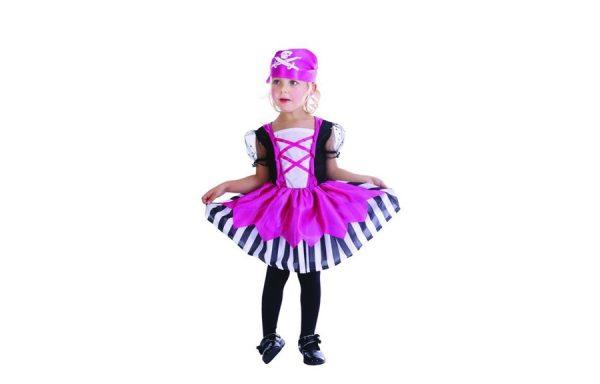 XSmall Pretty Pink Pirate Girl's Costume